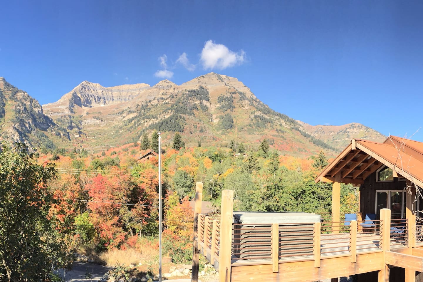 """""""Seasons"""" cabin view from the upper deck-one of the BEST views on the mountain"""