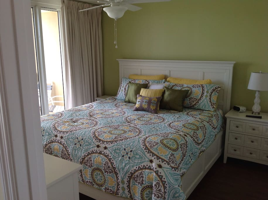 Master bedroom with Pillow Top King mattress.