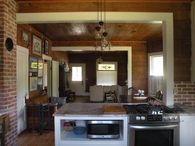 Open concept.  Kitchen, Dining and Living Room.