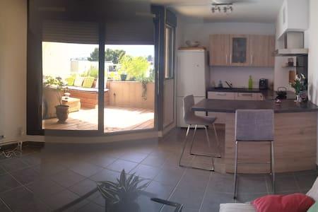 T2 38m² plus terrasse calme - Montpellier