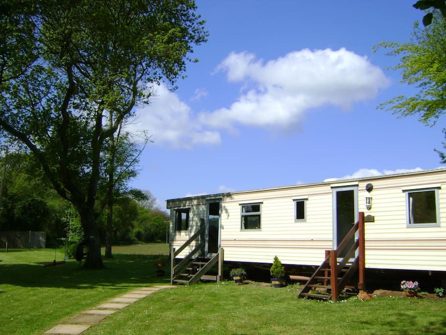 The accommodation set in its own private meadow