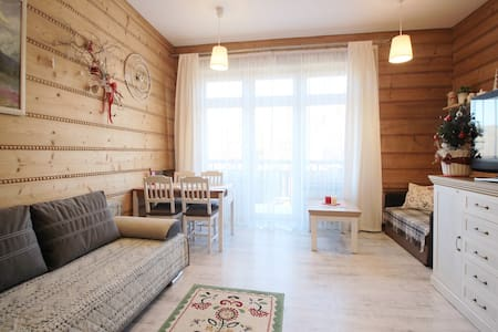 Sunny studio in heart of town with balcony - Zakopane