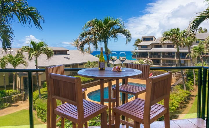 Makahuena 2202 - Large Ocean view, 3 bds, pool, Poipu!