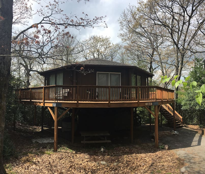 Lovely location amidst the treetops!