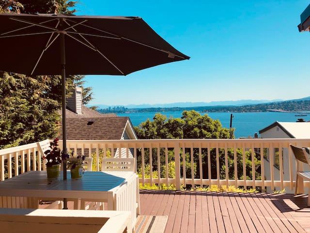 Amazing View of Lake Washington  Near Downtown