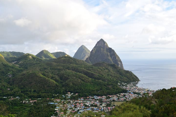 Soufriere Local Escape St Lucia- Air Conditioned