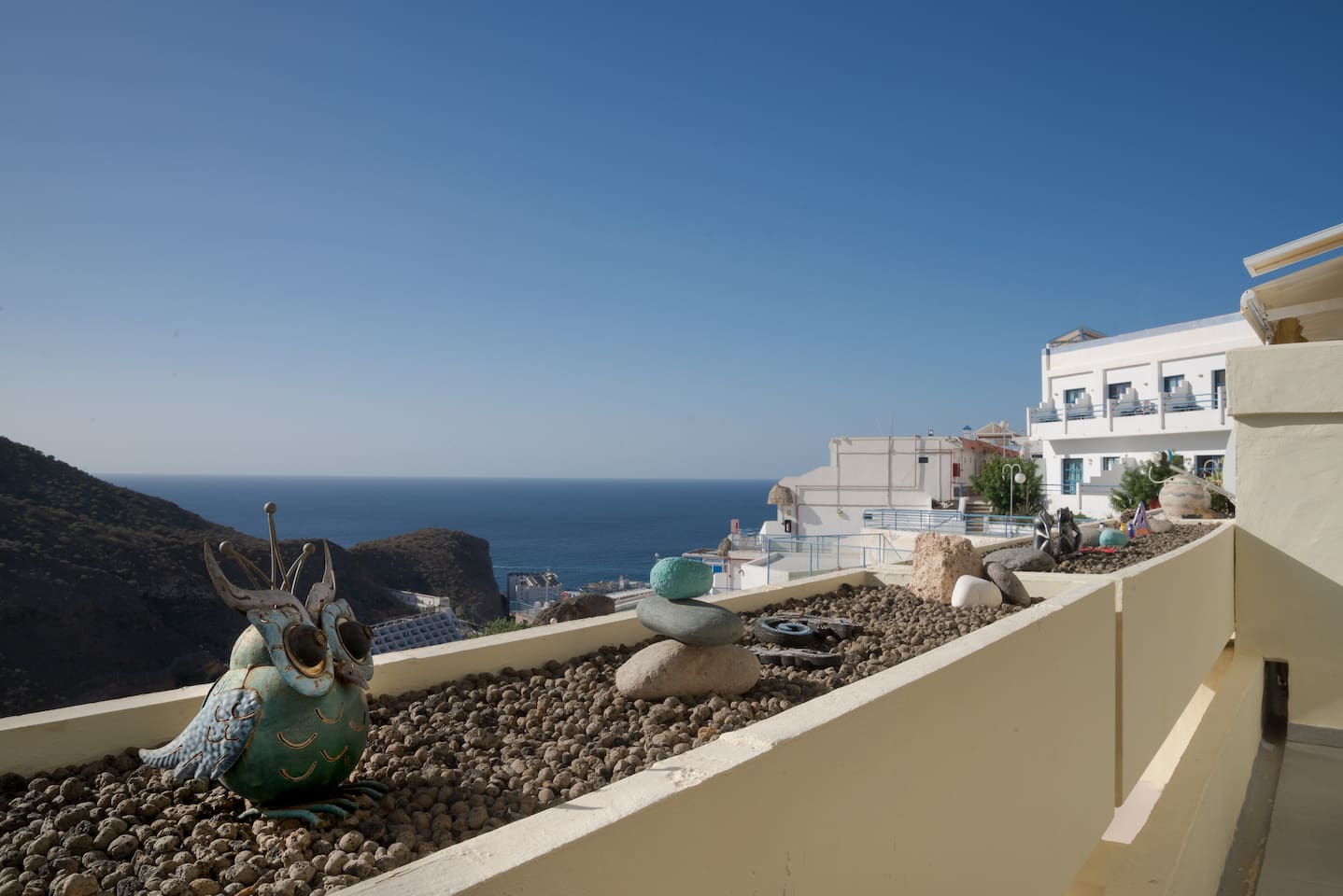 Sunny, sea view apartment with renovated bathroom.