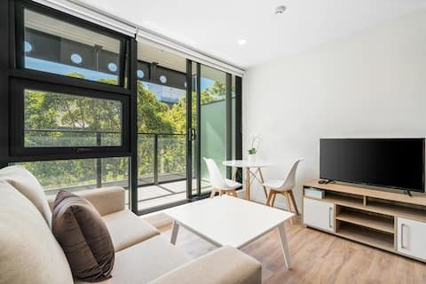 Cozy studio with beautiful balcony
