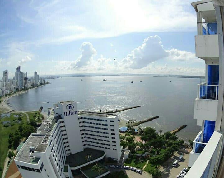 Apartamento amoblado en Cartagena. Excelente vista