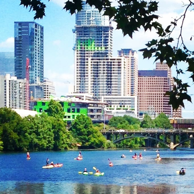 Walk to Lady Bird Lake  (Town Lake) for a jog or paddle boarding.