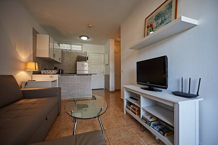 A newly refurbished one bedroom apartment.