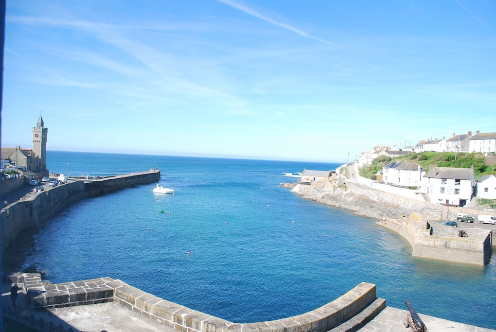 View of Porthleven Harbour from The Anson