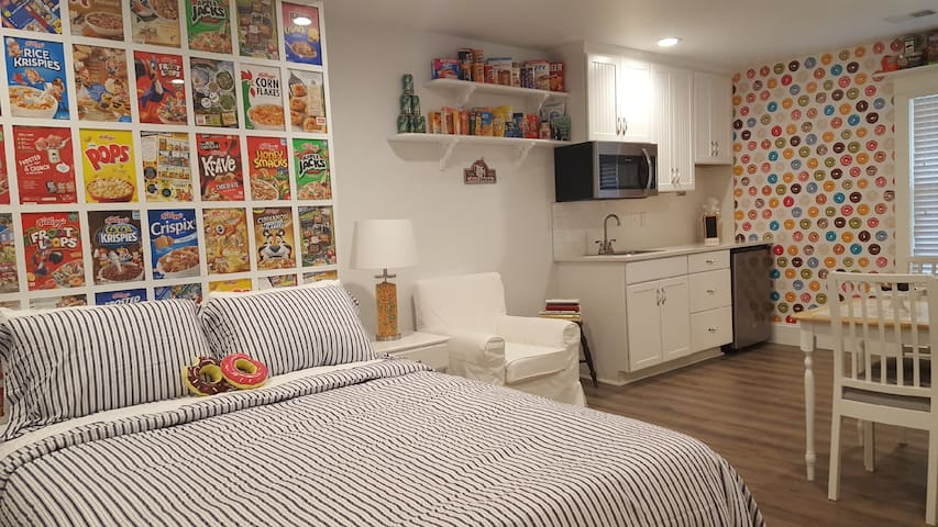 Cereal Headboard and kitchetter