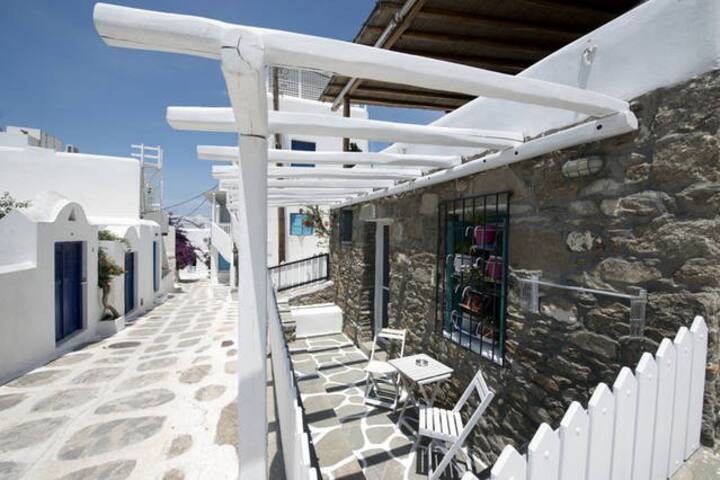 Rosa Studio Mykonos Town Best Location With Porch
