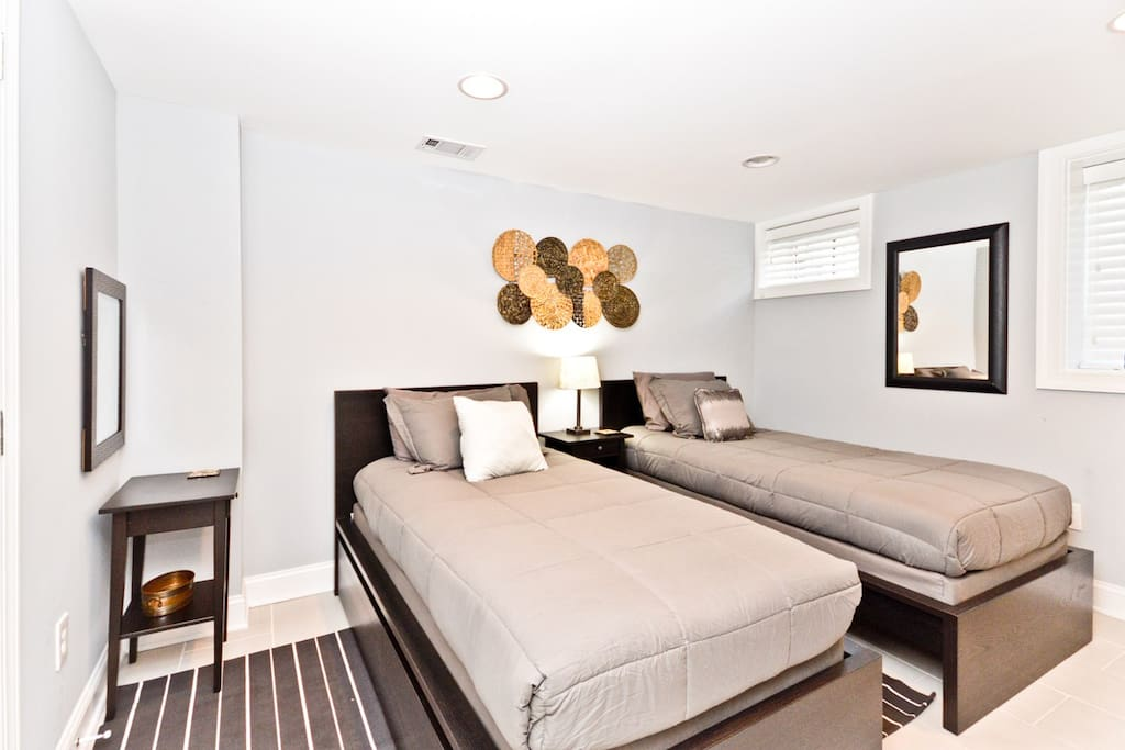 Bedroom #2 - Twin Beds, private bath with shower, full closet and under bed storage.