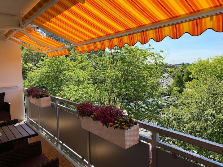 Apartment mit Sonnenbalkon in Sankt Augustin
