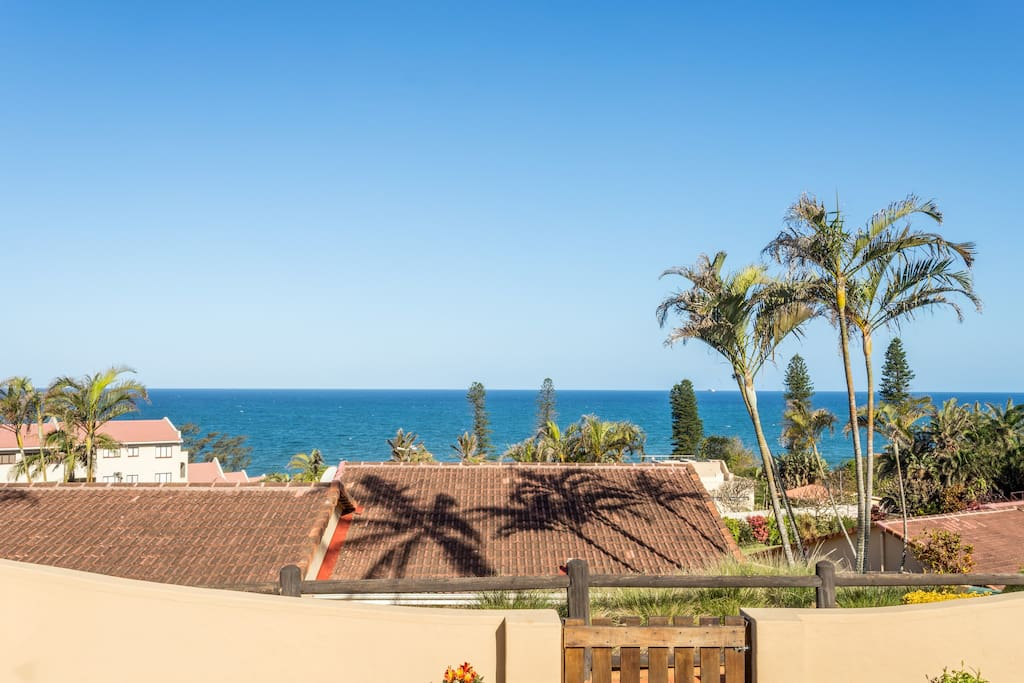 Very private unit with walled garden and lovely sea views.  Good braai facilities.