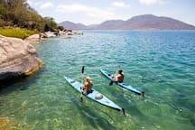 Canoeing Lake Malawi