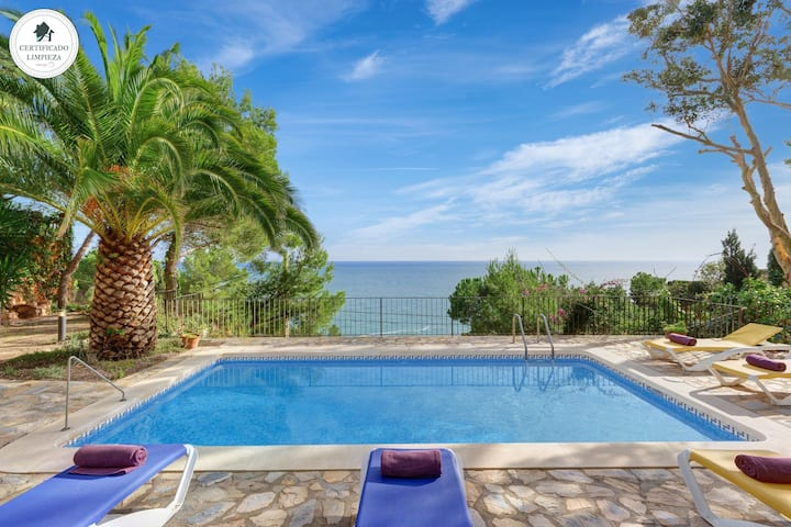 BALCO DEL MAR-villa with sea views and private pool-Tamariu-Costa Brava