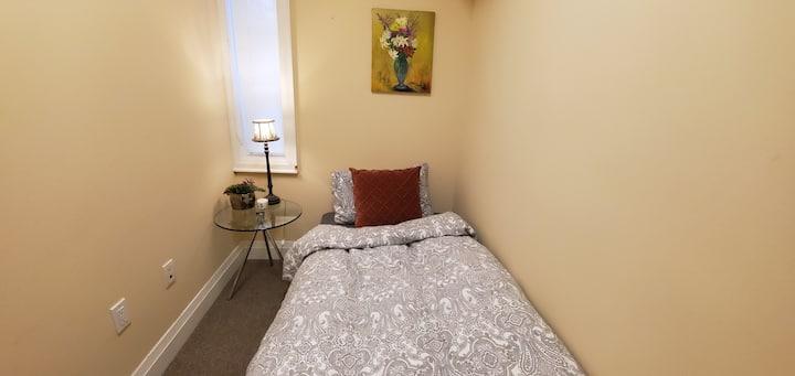 Tiny private room for single traveler.