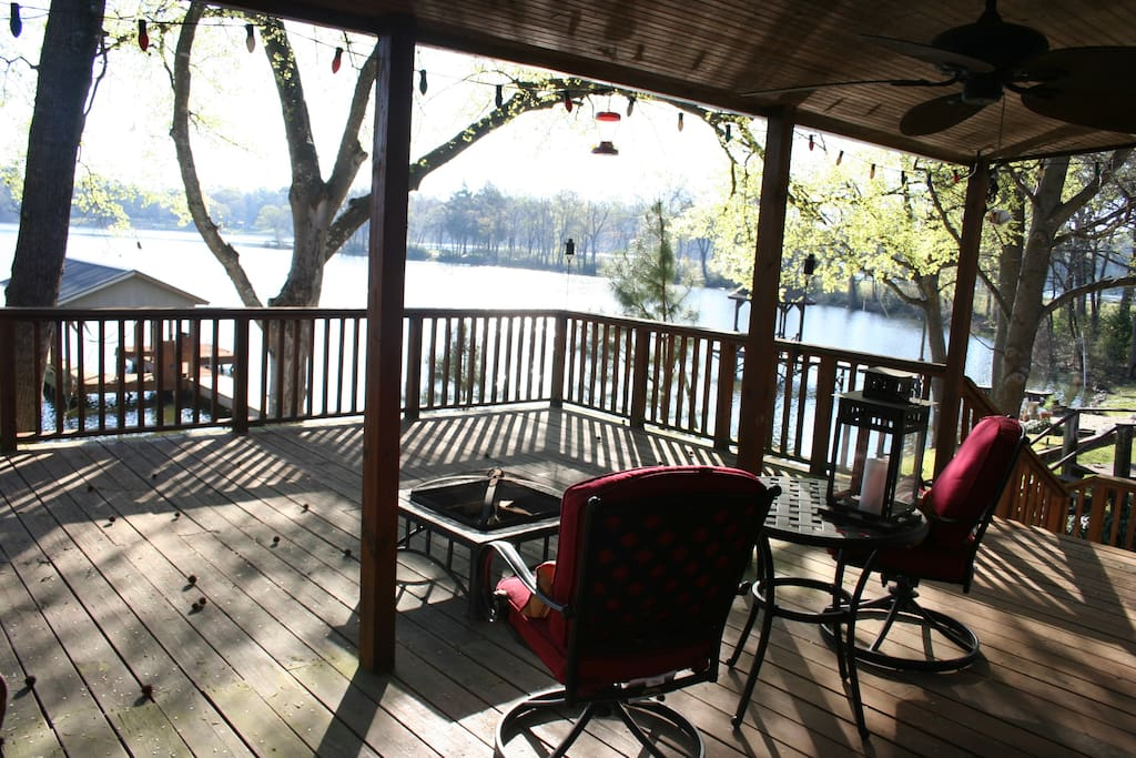 Deck with Chairs and Firepit