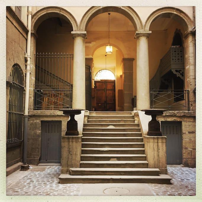 Cour de l'immeuble