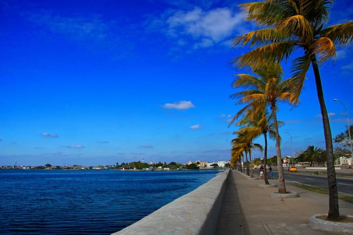҉   Top location of Cienfuegos/AQUAZUL HOSTEL   ҉