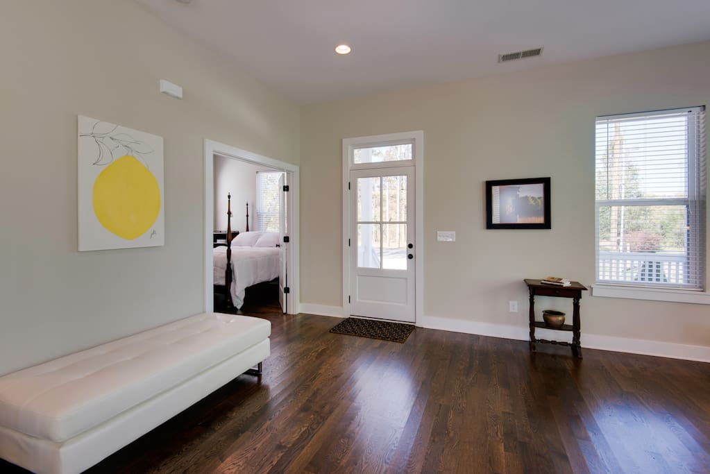 This 4BR 3BA house has fresh, modern finishes and gorgeous wooden floors throughout.
