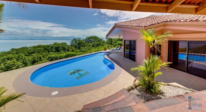 Villa Mariposa Beachfront Ocean View Costa Rica
