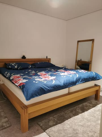 Central apartment with comfy bed and a garden!