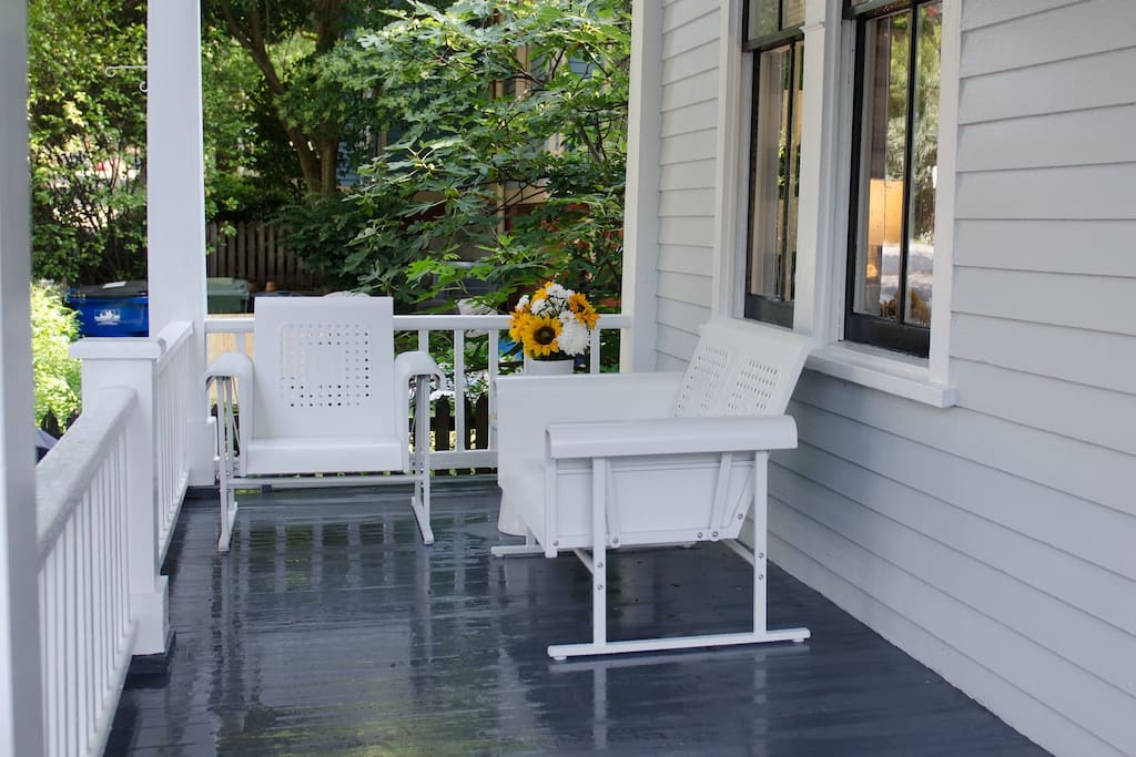 Relax on our porch.