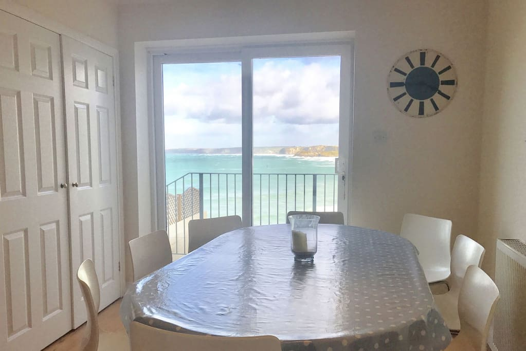 Dining for 8 with views out to sea