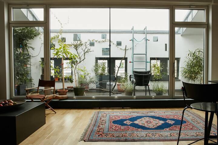 Large private room+ensuite bathroom in modern loft - Berlín - Loft
