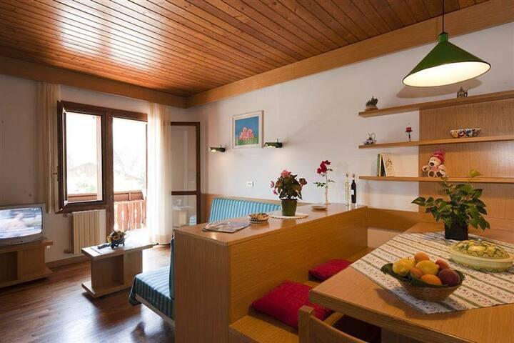 Tarvisio, loft in legno luminoso ed accogliente