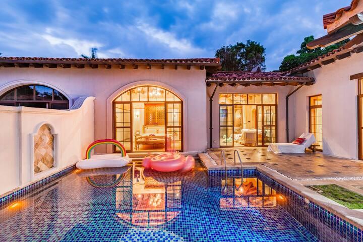 海棠湾海边二居泳池别墅近免税店亚特兰蒂斯蜈支洲岛