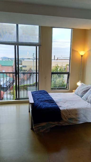 Balcony from the bed.