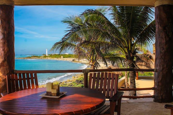 Costa Maya Villas Exclusive condo ocean front 102 - Mahahual - Apartamento