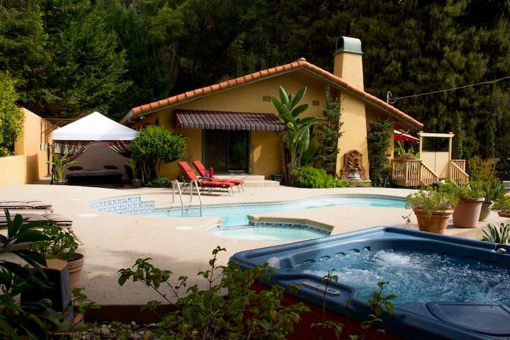 Romantic Villa Soquel Santa Cruz CA - Soquel - Casa de campo