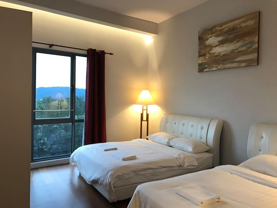 The Cozy Bedroom with Seaview