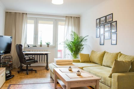 Large Room in Downtown with Balcony - Wrocław