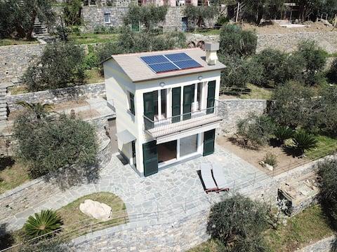 Villino Olivia, vista zu Portofino promontorio