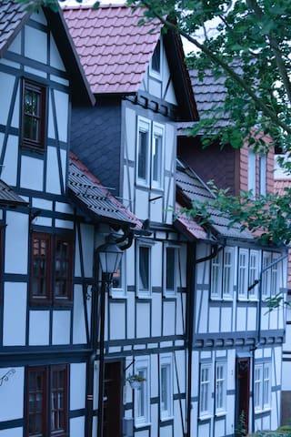 Mittelalterliches Fachwerkhaus am Diebesturm