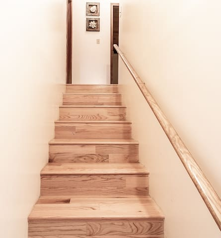 Stairs leading to upstairs bedrooms