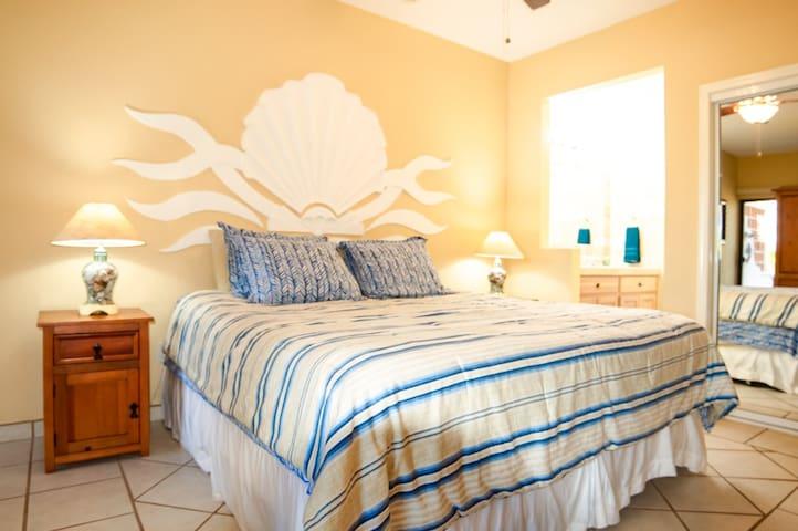 Master Bedroom.  King Bed.