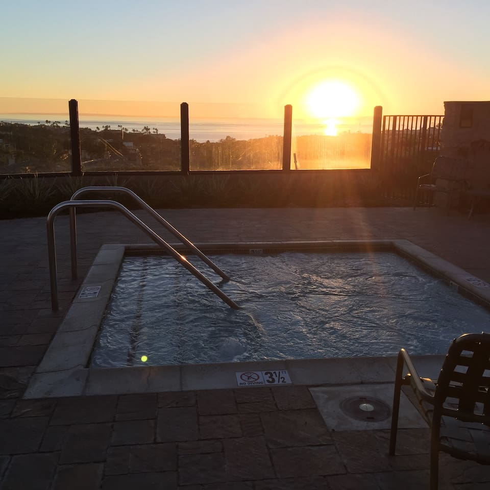 Sunset view from the Jacuzzi