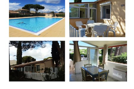 Cap d'Agde Maison 4-6 pers. piscine parking
