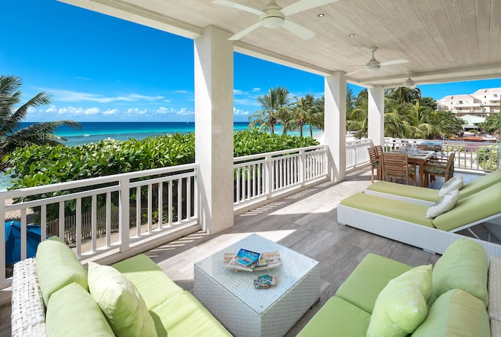 Craggy Nook Beachfront Villa Green Monkey Barbados