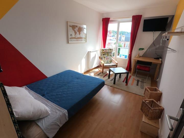 Chambre dans bel appartement, idéal étudiants