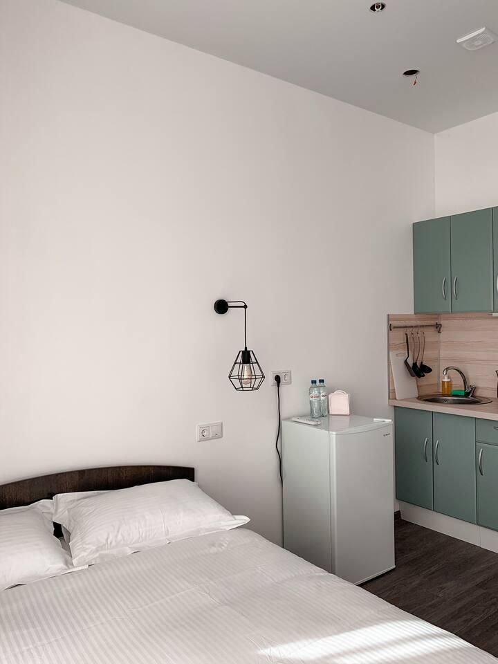 Уютные апартаменты.