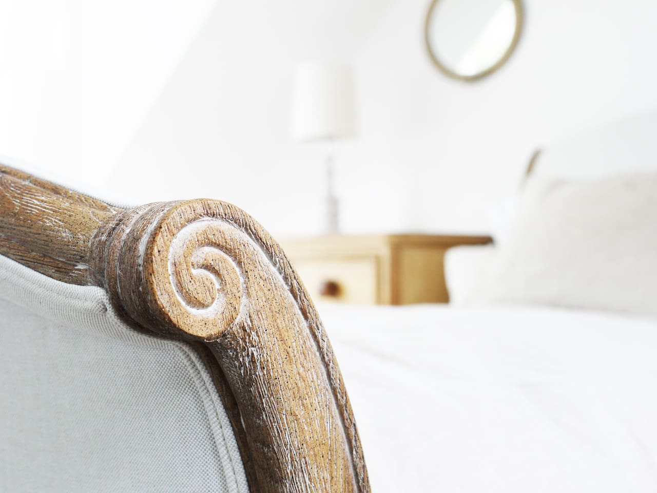 Beautiful antique and contemporary furnishings with snuggly, comfortable kingsize beds.